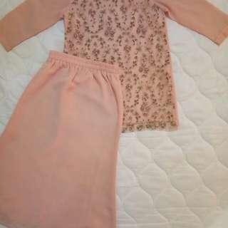 Baju Kurung Lace Chiffon