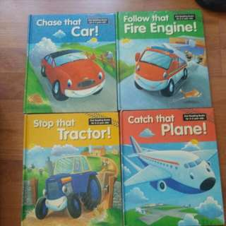 Stop the tractor, Catch the plane, Follow the fire engine, Chase the car