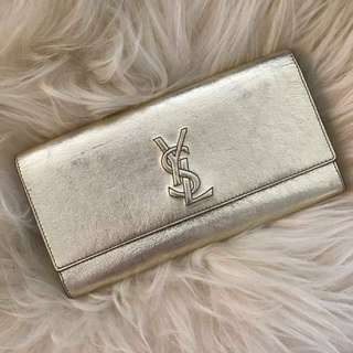 YSL - YVES SAIN LAURENT CLUTCH GOLD