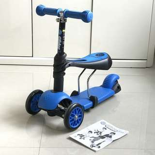 Yvolution Y Glider 3-in-1 Scooter Blue