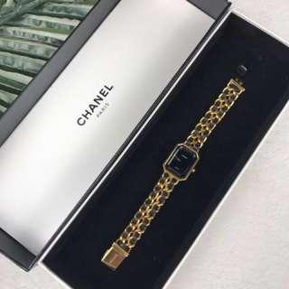Chanel watches黑金手錶m號鏡面完好明星同款