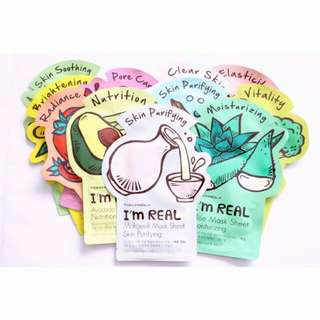 TONY MOLY I'M REAL MASK SHEET 100% ORIGINAL BY TONY MOLY KR ORI KOREA