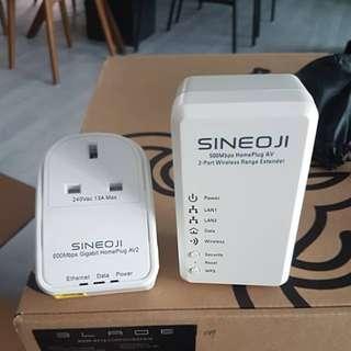 Sineoji Homeplug AV2 + Wireless range extender