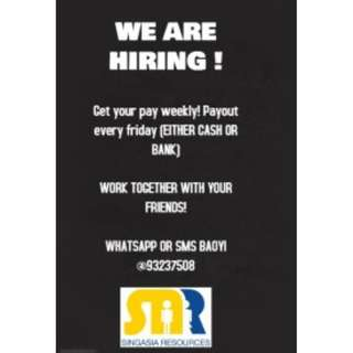 WE ARE HIRING PART TIME BANQUET SERVER!