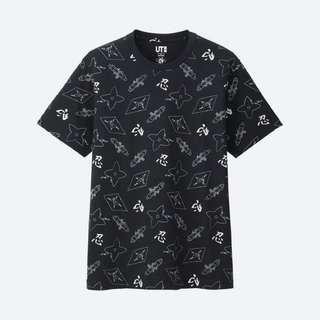 🚚 全新Uniqlo 絕版 Nippon Omiyage 忍者 滿版 黑色上衣短袖 M 降價
