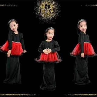 Girls Baju Kurung Tutu Lace