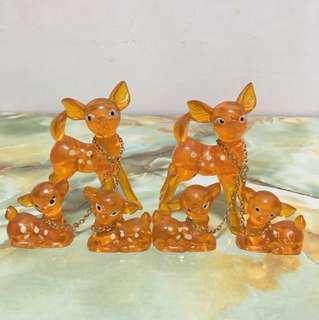 Vintage Acrylic Deer Figurine