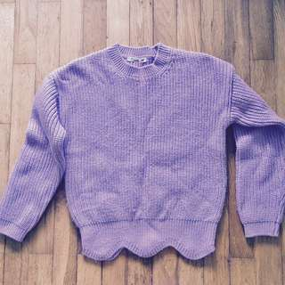 Very Sweet Lilac Wool (75%) Knitted Pullover