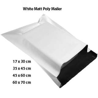 White Matte Poly Mailer Mailing Envelope/Courier Plastic Bags
