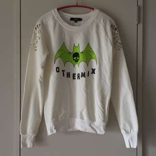 Othermix Green Bat Jumper With Cutouts Size S