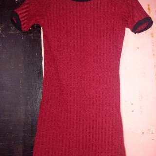 sexy dress(fited) maroon