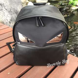 jual tas Fendi Backpack LEATHER MIRROR - black