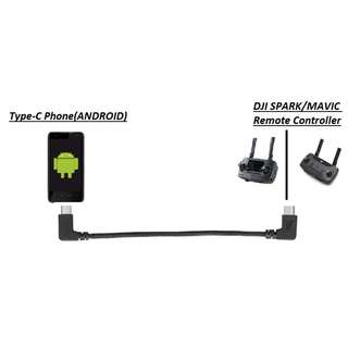 [$10] [FREE POSTAGE] DJI OTG Cable Remote Controller for Type-C Android Phone/Tablet