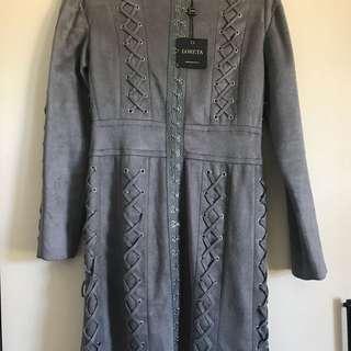 Loreta Grey Suede Dress