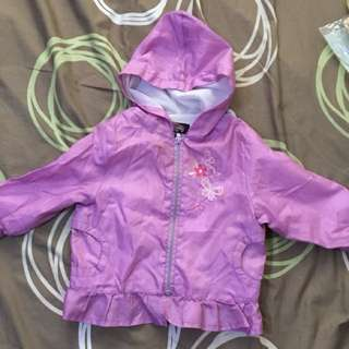Charity Sale! Athletic Club Baby Girl Rain Jacket Raincoat