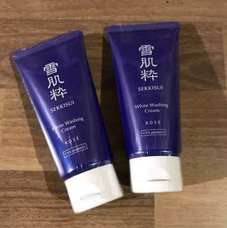 Kose Sekkisui White Washing Cream