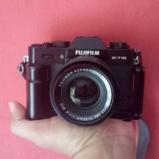 Fujifilm xt10 dan fujinon 35mm f1.4 murah ajaa