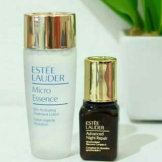 1 set estee lauder serum ANR dan micro essence