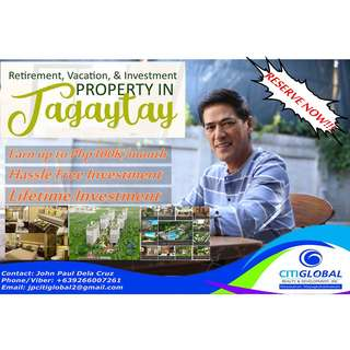 High Return Of Investment - Condotel Property in Tagaytay by Bossing Vic Sotto