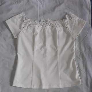 Formal white off shoulder