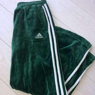 Adidas Green Velvet Vintage Trackies