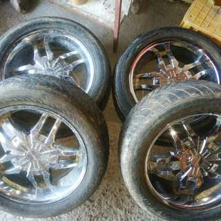 Chrome Rims 1 set