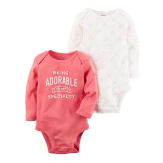 Carter's Cotton Long Sleeves bodysuits