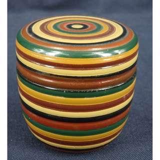 環紋漆茶罐
