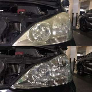 Toyota Picnic headlight restoration