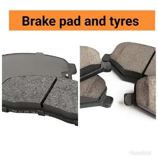 Brake pads and tyres