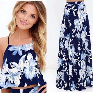 Floral Halter Skirt Coordinates