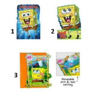 (Pre-Order)  Licensed SpongeBob Birthday Party Invitations and Thank You cards
