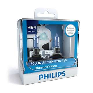 Philips 5000K Ultimate White Light HB4 12V 55W 9006DVS2 (Pair)
