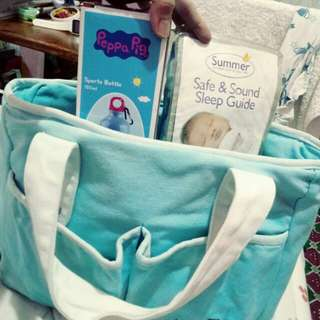 Baby diaper bag, sports bottle & 1 Swaddle