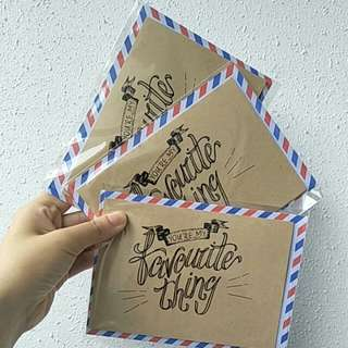V-Day Calligraphy Cards