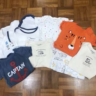 10pcs Bundle of Baby Boy's Clothes: New Born to 3 months