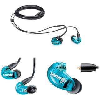 Shure SE215 Special Edition Noise Isolating Earphones (Blue) Authentic