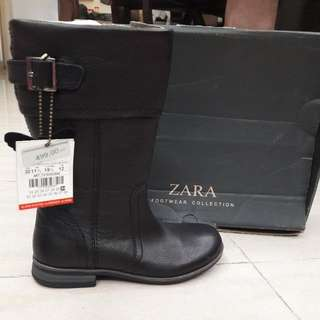 Brand New Zara Leather Boots For Girls