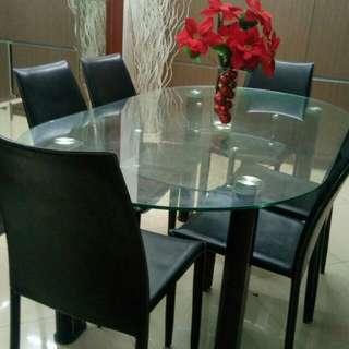 DIJUAL CEPAT!! 1 set meja makan