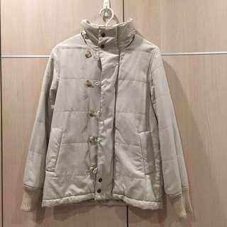 🚚 米白色 鋪棉 保暖外套