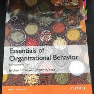 Essential Of Organization Behavior