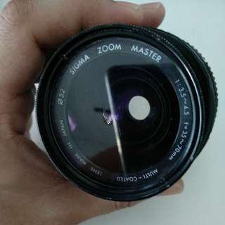 Sigma Zoom Master 35mm - 70mm