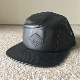 Icon Brand Faux Leather Hat