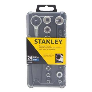 Stanley STMT74868 14 Mechanics Socket Wrench Tool Set 24 Piece