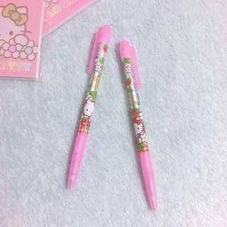 Hello Kitty Blue Ink Pen - Pink Flower