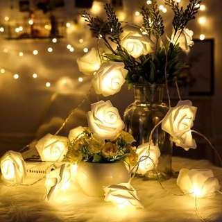 情人節 浪漫 Led 玫瑰花 燈 串