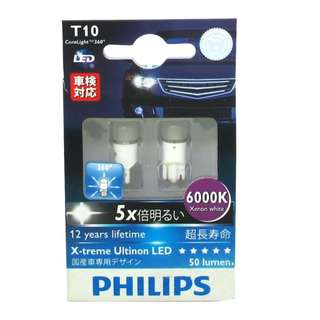 Philips Bulb 12799 T10 X-treme Ultinon LED 6000K