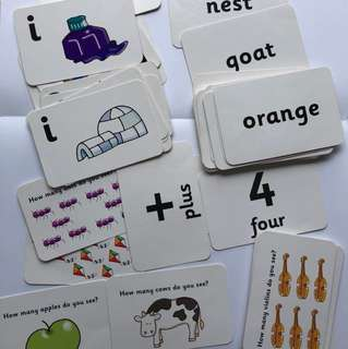 Flashcards alphabets and numbers