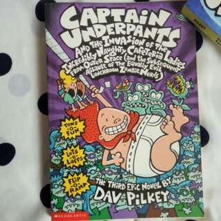 Captain underpants series of 4 books
