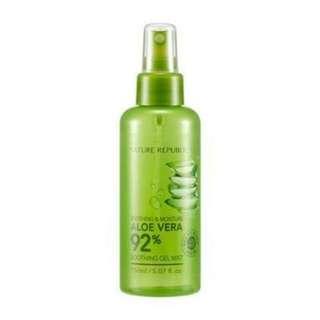 soothing & moisture aloe vera 92% soothing gel mist